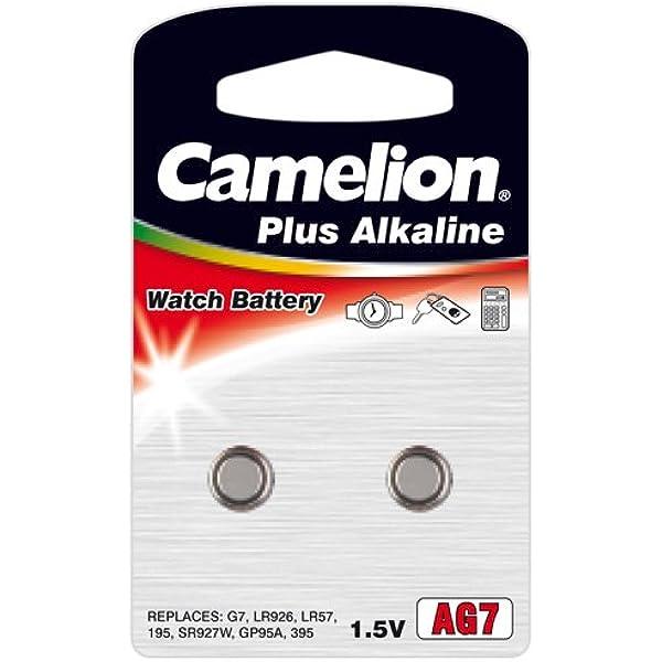2 Stück Camelion Ag7 Lr57 Lr926 Knopfzelle 1 5v Batterie