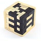 MKNZONE 3D Rompecabezas con Rompecabezas de Madera # 5 - Rompecabezas Entrelazado de Cubos de Diamantes para Adolescentes y Adultos - Desafía tu Pensamiento lógico - Ideal para Regalos