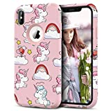Prologfer Coque iPhone XS Max Licorne Coque de Protection en Hard PC Dur Coque iPhone...