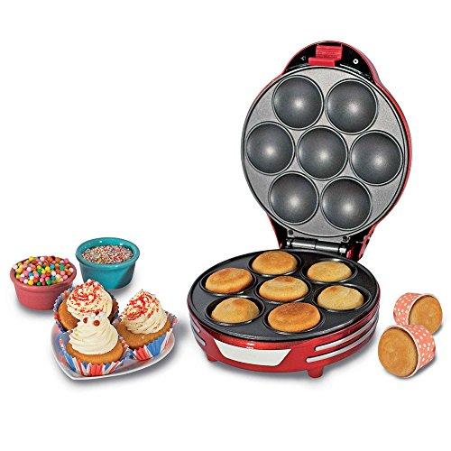 ARIETE 188 Muffin Cupcake Party Time Macchina per Muffin e Cupcakes Potenza 700 Watt Colore Rosso