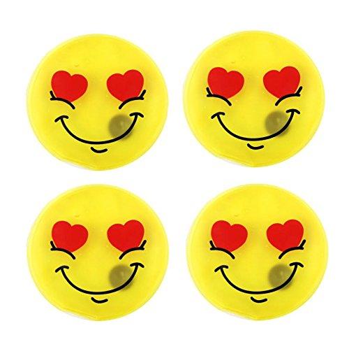MIK Funshopping-Scaldamani e scaldatasche, set di 4Emoji Mr. Love