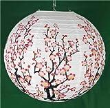 2 x 14' Lámpara colgar papel chino tradicional - Arbol flores forma lampara