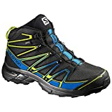Salomon Herren L39183200 Trekking-& Wanderstiefel, Schwarz (Black/Bright Blue/Gecko Green Black/Bright Blue/Gecko Green), 46 2/3 EU