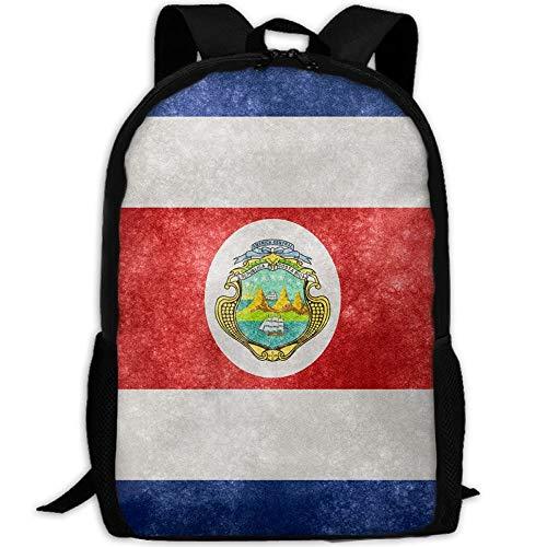 Bandera Costa Rica Retro Mochila Viaje Adultos Mochila