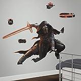 Thedecofactory RMK3148SLM Stickers Star Wars EP VII Kylo REN Brillant GÌANT ROOMMATES REPOSITIONNABLES (156X104CM), Vinyle, Multicolore, 156 x 104 x 0,1 cm