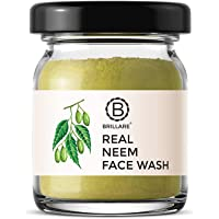 BRILLARE 100% Natural Real Neem & Bergamot Face Wash for Acne Prone Skin, Clears Pimple, Breakouts & Blemishes, No…