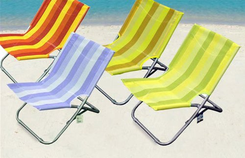 Spiaggina sedia sdraio mare piscina campeggio 49x43x55 cm colori ass gt 913762