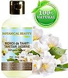 Monoi de Tahiti Tahitian Jasmine oil 100% naturale/100% pure Botanicals–120ml. Per pelle, capelli e cura delle unghie.