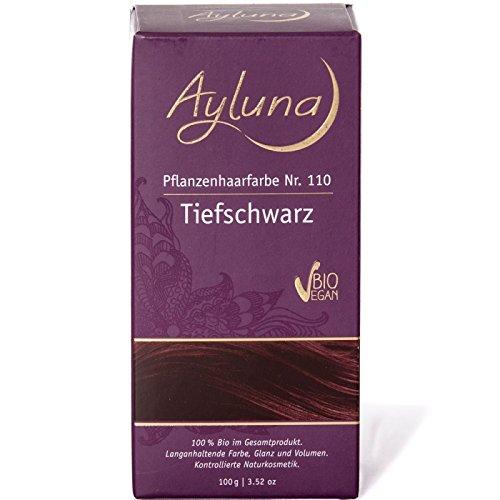 Braune Haare Farbtöne (Ayluna Pflanzenhaarfarbe 110 Tiefschwarz)