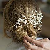 handmadejewelrylady Brautschmuck Vintage Hochzeit Party Kristall Strass Haarnadeln Haar Zubehör Frauen Kopfbedeckung (Pack von 3)