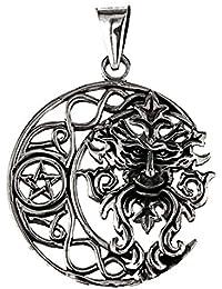 Pentagramm mittelgroß Schmuck Anhänger 925er Silber