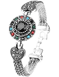 Shining Diva Fashion Oxidized Silver Bracelet for Women