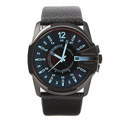 Diesel - Reloj de Cuarzo, Correa de Cuero Color Negro