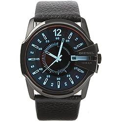 Diesel Herren-Armbanduhr XL Analog Quarz Leder DZ1657