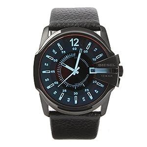 Diesel-Reloj-de-Cuarzo-Correa-de-Cuero-Color-Negro