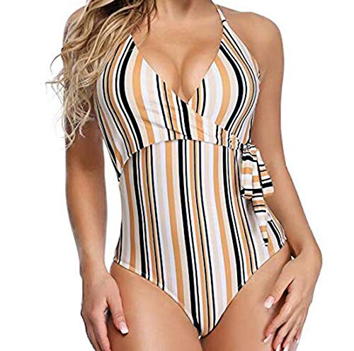 dd5beb7fd41c9 SS Queen Women Fashion One Piece Swimsuits Sexy Print Swimwear Deep V Neck  Monokinis