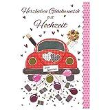 Susy Card 40010045 Grußkarte zur Hochzeit