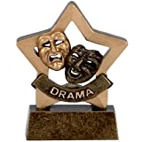 from Sports Trophy 3.25Mini Star Drama Trophy with FREE Engraving up to 30 Letters A972