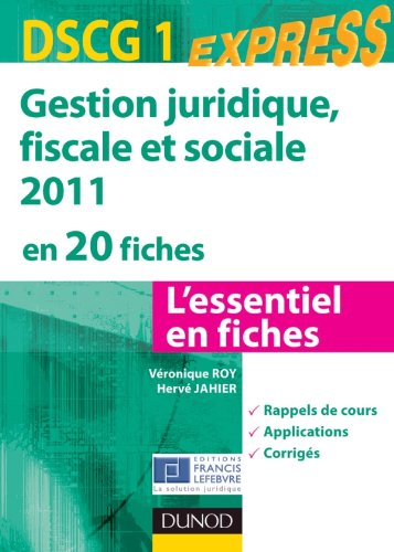 Gestion juridique, sociale, fiscale 2011...