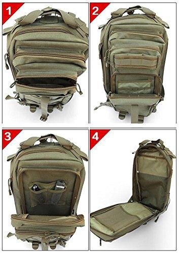 Arrowhunt Größe Multifunktions Tarnung Reisetasche Einfarbig Rucksack Trekkingrucksäcke Camouflage D