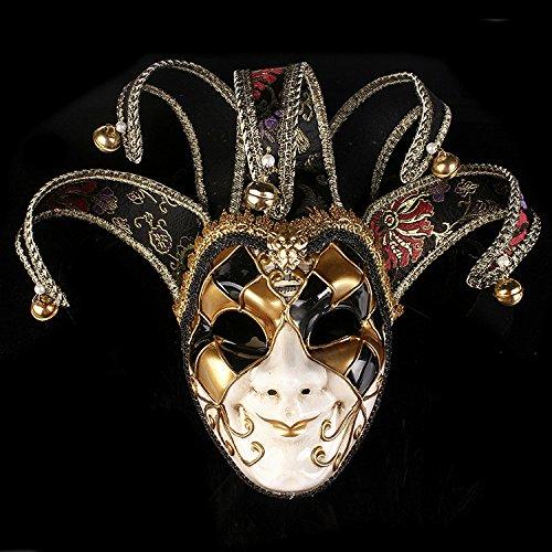 m Joker Maske Tanzparty Venedig Prinzessin Maske Schwarz (Joker-halloween-maske)