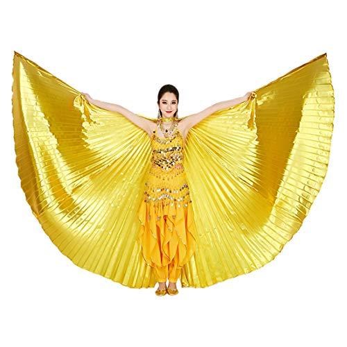Descripción:  ● Fantástico traje egipcio danza del vientre. Alas de Isis con cuello ajustable, fáciles de llevar y quitar, las alas se pueden extender 360 grados, elegante y mística. ● Tejido suave de alta calidad, ligero, Cómodo con el material de c...