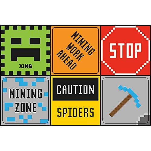 18Bergbau Fun 30,5cm Mini Poster, Minecraft Party Dekorationen, Minecraft Party Supplies, Zimmerdekoration, Schilder
