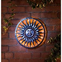 Charming Bronze Effect Solar Sun Metal Wall Art from Bloomingtons