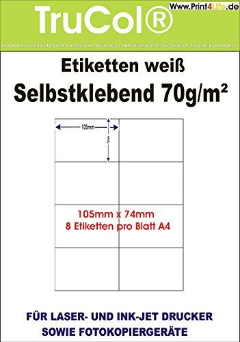 Etiqueta Etiquetas blancas 105x 74en formato DIN