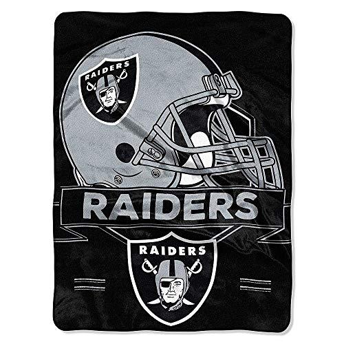 Northwest NFL Prestige Plüsch Raschel Überwurf Decke, schwarz