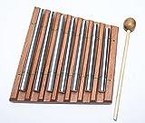 Chimes siebenreihig Tischglockenspiel 7 Töne mit Schlegel