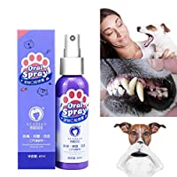 NEWLUK Dog Oral Care Dental Spray,Pet Teeth Breath Cleaning,Freshener Dental Spray Care Health Cleaner Freshen Breath Plaque Tartar (B-2PCS)