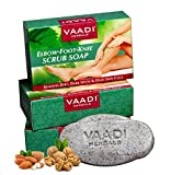 Value Pack von 3 Ellenbogen Fuß Knie Scrub Soap (Bar Soap) mit Mandel und Walnut Scrub - Entfernt Dead Skin Zellen machen sie weicher