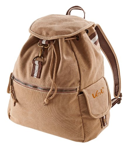 Vintage Style Rucksack Canvas Backback 18 Liter mit Veri ® Logo Farbe: vintage-sahara