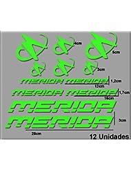 Ecoshirt HX-T2QO-NC71 Pegatinas Merida R63 Vinilo Adesivi Decal Aufkleber Клей MTB Stickers