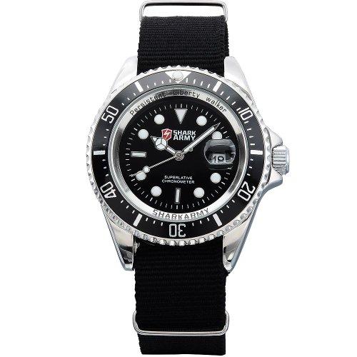 SHARK Montre Bracelet Militaire Homme Sptive Nouveau Bracelet Nylon SAW013