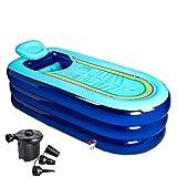 LJF Badewanne Große Verlängerung der aufblasbaren Badewanne Erwachsener Verdickung Wanne Faltbare Badewanne Badewanne Plastik Bad Barrel ( farbe : Blau )