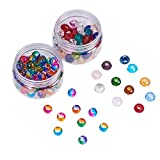 nbeads 2Boxen 100PCS Glasperlen 12mm 14mm großes Loch Europäische Perlen Bunte Spacer Perlen für Armband Charms