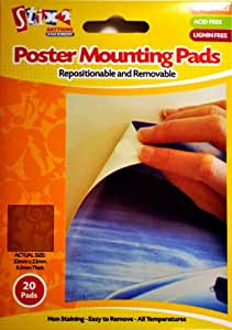 Pack Of 20 Poster Mounting Pads - Pad Size 22 x 22mm