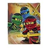 Character World Lego Ninjago Lloyd Kai Jay Fleece-Decke 120x150cm 100% Polyester Kuscheldecke