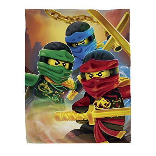 Character World Ninjago Lloyd Kai Jay Fleece-Decke Lego Motiv 120x150cm 100% Polyester Kuscheldecke