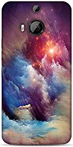 Snoogg Universe Storm Designer Protective Back Case Cover For HTC M9 Plus