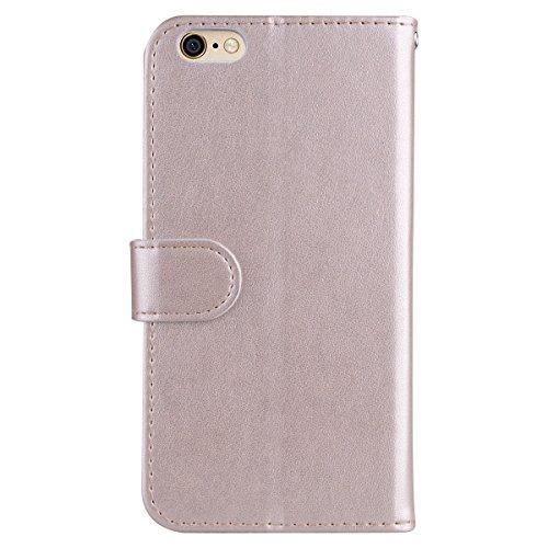 Custodia iPhone 6 Plus 5.5,ToDo Slim PU Pelle Cover per iPhone 6S Plus 5.5 Unicorno Bling Glitter Disegno Portafoglio Libro Flip Copertina Protective Case Chiusura Magnetica Supporto Stand Carta di  Oro