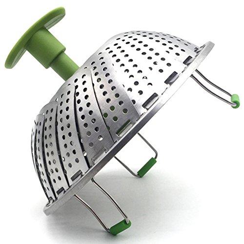 SODIAL Cesta vapor Cesta vapor verduras acero inoxidable