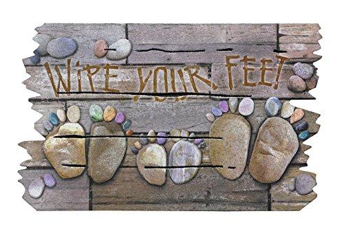 BSM 2000 - Türmatte 76 x 46 cm - Fußmatte - Türvorleger - Schmutzmatte - Schmutzfangmatte - 5 verschiedene Motiv, 95{47f1cf18b73e06e1142b54bdfb6a8d23defe60e8979bcf9e112821c0392124b7} recycelt, Feuchtigkeitsaufnahme, Schmutzaufnahme, Rutschfest ( Wipe Your Feet )