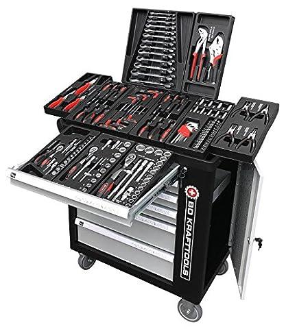 BD Tools Black Sensation Chariot servante atelier 6tiroirs/4rembourré avec outils