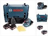 Bosch Professional GSS 18 V-10 Akku Schwingschleifer in L-Boxx + 2 x GBA 5,0 Ah Akku
