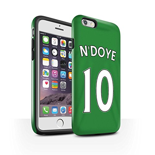 Offiziell Sunderland AFC Hülle / Glanz Harten Stoßfest Case für Apple iPhone 6 / Pack 24pcs Muster / SAFC Trikot Away 15/16 Kollektion N'Doye