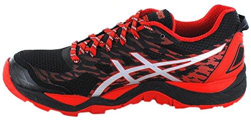 Asics Fujitrabuco 5, Chaussures de Running Homme Noir (Black/Vermilion/Silver)