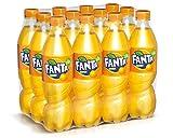 Fanta Orange/Super frische Limonade mit Orangengeschmack und Spaß-Garantie in praktischen Flaschen/12 x 500 ml Einweg Flasche